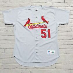 Vintage St Louis Cardinals Willie Mcgee Baseball Jersey Authentic Sewn Pro Cut