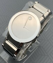 Swiss Movado Sapphire Mirror Dial Stainless Steel Model 0606093 Menand039s Watch