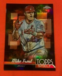2014 Topps Chrome Mike Trout Top Shelf Refractor Insert Ts-mt Los Angeles Angels
