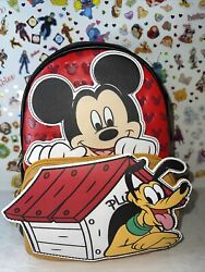 Loungefly Disney Mickey Mouse And Pluto Cosplay Exclusive Mini Backpack Nwt