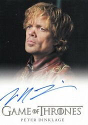Game Of Thrones Season 2 Peter Dinklage As Tyrion Lannister Auto Card