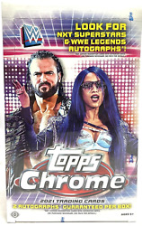 2021 Topps Chrome Wwe Wrestling Factory Sealed Hobby Box - 2 Autoand039s Per Box