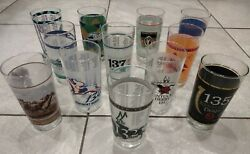 Kentucky Derby Authentic Collectible Glass Cups Lot Of 12