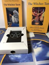 Vtg 1995 The Witches Tarot Set Deck Book And Spread Mat Ellen Cannon Reed Martin