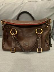 Dooney and Bourke Florentine Satchel size Small in color Brown Tmoro $190.00