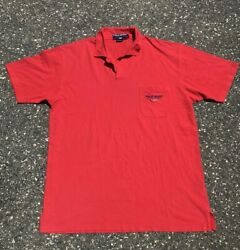 Vintage Polo Polo Sport Button Free Collared Golf Shirt Mens Large