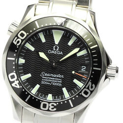 Omega Seamaster300 2252.50 Black Dial Automatic Boyand039s Watch_646201