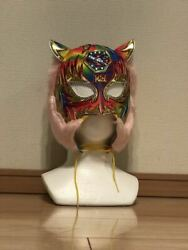 Starlight Kid's Own Used Mask With Professional Wrestling Mask Autograph