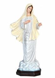 Our Lady Of Medjugorje Fiberglass Statues Cm 130 With Glass Eyes
