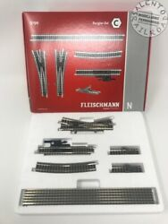 Fleischmann 9190 Set Tracks With Roadbed Pre-wired C - Scale N