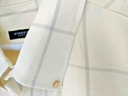 XXL Burberry casual long sleeve shirt yellow with grey accent very sharp $29.99