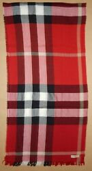 Authentic Burberry Large Scarf Shawl Cloth Wool VGC $100.00