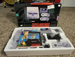 Super Nintendo System Snes Console Super Mario World Set Cleaned/sanitized