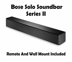 New Bose Solo Soundbar Series Ii - 845194-1100 Remote And Wall Bracket Included