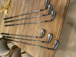 Ping Gmax Irons 6,7,8,9, Pitching Wedge And Approach Wedge, Mid Size Grips