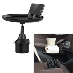 Car Cup Holder Tray Table For Eating W/ Cell Phone Slot Coffee Stand Food Tray