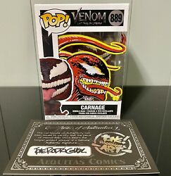 Funko Pop Marvel 889 Carnage Let There Be Carnage Tone Rodriguez Remark Auto Coa