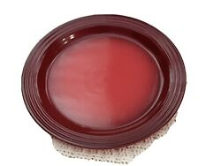 Le Creuset Stoneware Dinner Plates 10.5quot; Set Of 4 Cerise Red NEW
