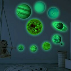 Decal Wall Stickers Kids Room Home Planet Accessories Glow In The Dark