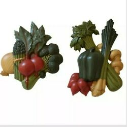 Home Interiors Vegetable Pair Plastic Kitchen Wall Hanging Decor Vintage 80s