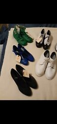 Seven Pairs Of Disneyland Parade And Show Character Performer Costume Shoes Prop