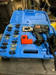 Thomas And Betts Battpac Lt Bplt62bscr Kit W/ 16 Dies Set And New Battery - Blue