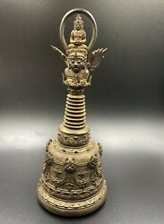 Old Ancient South East Asian Antiquities Cambodian Bronze Antique Temple Bell