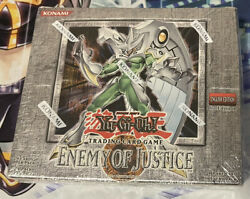 Yu-gi-oh Tcg X1 Enemy Of Justice Booster Box 1st Edition Sealed 24 Packs 2006