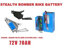 72v 150a Bomber Electric Bike Frame Polygon Battery Pack With 5000w 8000w