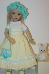 Outfit For Effner 13 Little Darling Dolls=gorgeous Yellow Dress /hat Toy =new