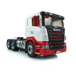 1/14 Lesu Rc 6x6 Metal Chassis Axles Hercules Paint Cab Tractor Truck For Scania