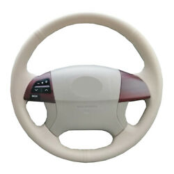 Beige Diy Car Steering Wheel Cover For Toyota Fortuner Hilux 11-15 Camry 06-2011
