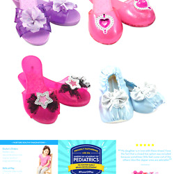 Melissa And Doug Role Play Collection - Step In Style Dress-up Shoes Set 4 Pa...
