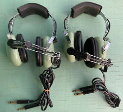 2 Untested Sets Of David Clark H10-30 Aviation Headsets For Pilots - For Parts