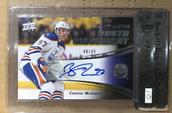 2015/16 🔥connor Mcdavid 🔥rookie Auto /49 Youth Movement🔥wow🔥great Card🔥