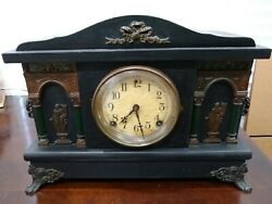 E. N. Welch Mantle Clock / Sessions Clock Co. Antique Mantle Clock