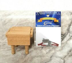 MINIATURE BUTCHER BLOCK amp; TOOLS FOR DOLLHOUSE 1:12 SCALE