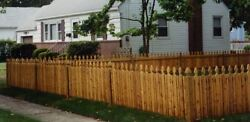 Cedar Spaced Picket Wood Fence Garfield Style 4and039 High X 80 Linear Feet