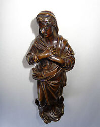 Rare 18th Century Bronze Madonna Virgin Mary Immaculate Conception Jesus Christ