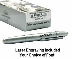 Fisher Space Pen 400brcl / Personalized Brushed Chrome Bullet Pen With Clip
