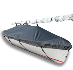 Mutineer Sailboat - Boat Deck Cover - Polyester Charcoal Gray Top Cover