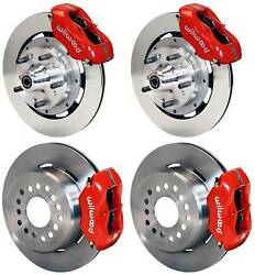 Wilwood Disc Brake Kit,complete,65-69 Ford Mustang,red