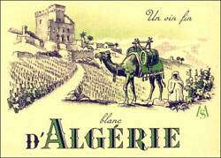 1000 One Thousand Spectacular Algeria White Wine Labels Of The 1950's