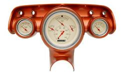 1957 Chevy Bel Air Classic Instruments Gauge Cluster Tan Face Ch01tslf Flat Glas