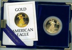 3 1987-W American Eagle Gold Proof $50 Coin wCOA & Box Reduced! Sell Today. LOW