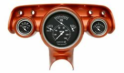 1957 Chevy Bel Air Classic Instruments Gauge Cluster Black Face Ch01bslf Clock