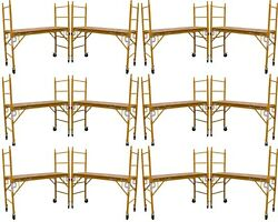 Set Of 10 New Scaffold Rolling Tower 6' H 29 X 6' Aka Perry Or Baker Scaffoding