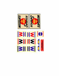 Marx Westgate Toy Gas / Service Station Decal Set