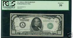 1928 $1000 FR 2210 A AU 50 BOSTON   Just reduced! One of finest known. No Uncs