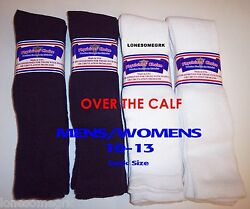 6 Pairs Physicians Choice OVER THE CALF KNEE Cushioned Diabetic Socks USA Made $25.88